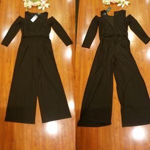 Ralph Lauren Long Black Pants Suit Size 14
